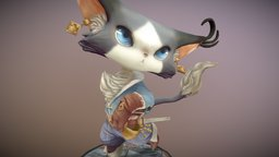 Musketeer Cat 3D Model