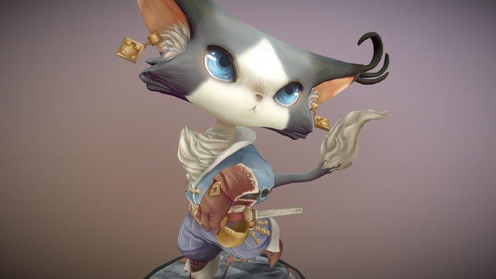 Musketeer Cat 3D Model