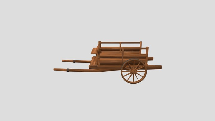Stylized_Cart 3D Model