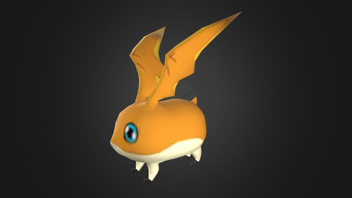 Patamon - Digimon 3D Model