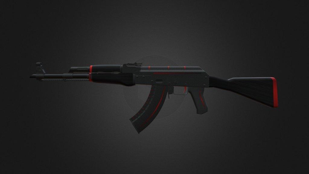 Ak 47 Redline >> Ak 47 Redline 3d Model By Csgoitems Pro Csgoitems Pro
