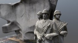 Monument of Polish Soldiers 3D Model