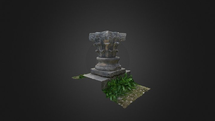 Capitel_Basa en vivienda (Volubilis) 3D Model