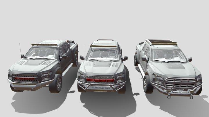 Ford Raptor 2017 3D Model