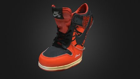 Fausse chaussure Nike 3D Model