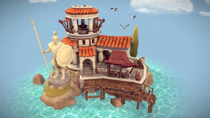 Ancient Greek Harbour 3D Model