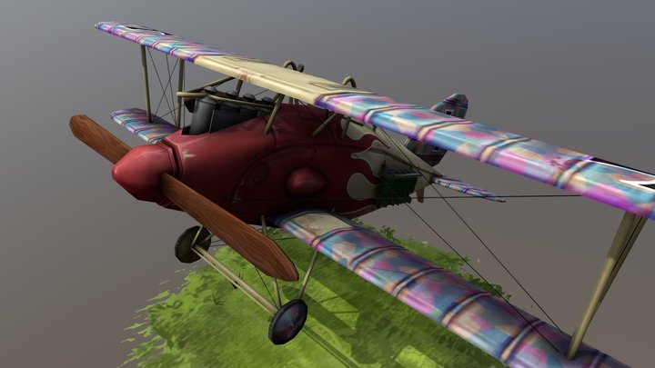 Stylized Plane - halbertstadt CL.II 3D Model