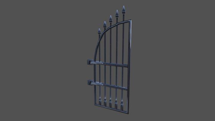 Hand Painted Gate Door 3D Model