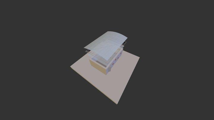 I S M Hangar Evolution Esploso 3D Model