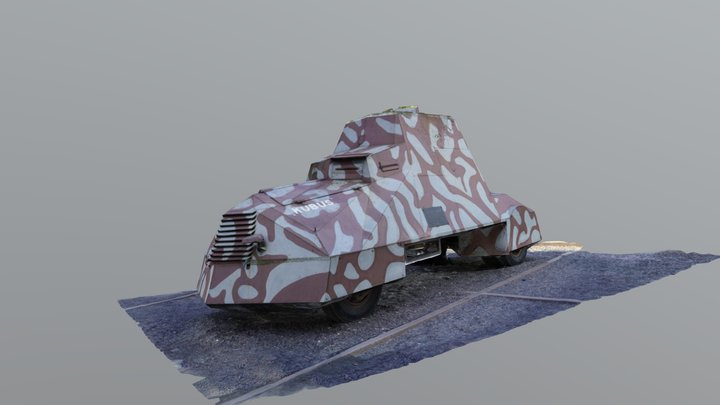 "Armoured vehicle ""KUBUS"" 3D Model"