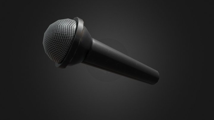 Freddy's Microphone   Help Wanted 3D Model