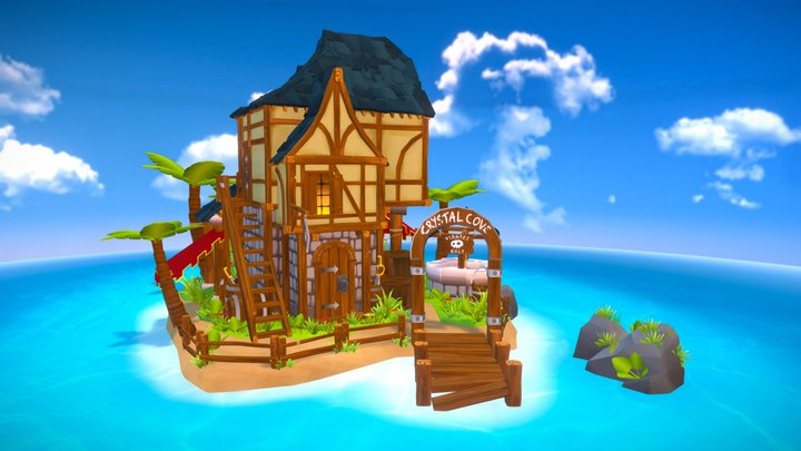 Crystal Cove - home of the Master Merchant 3D Model