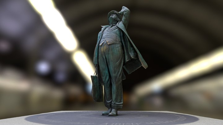 Sir John Betjeman, CBE by  Martin Jennings 3D Model