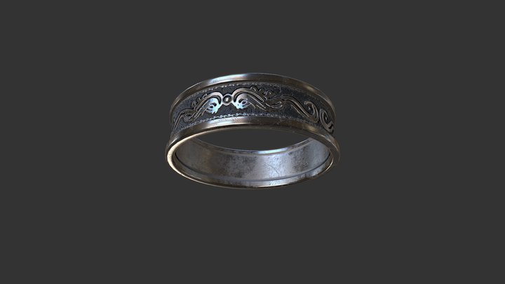 Old Ring pbr 3D Model