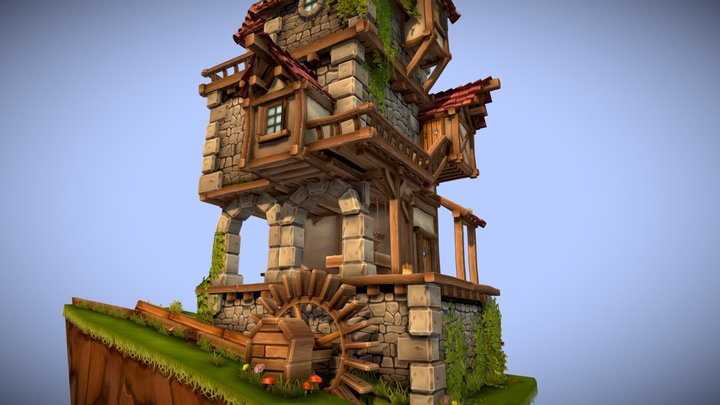 The old flour mill 3D Model