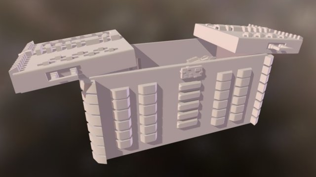 SciFi Chest Model with props 3D Model