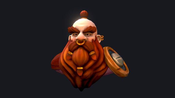 Stylized Dwarf 3D Model