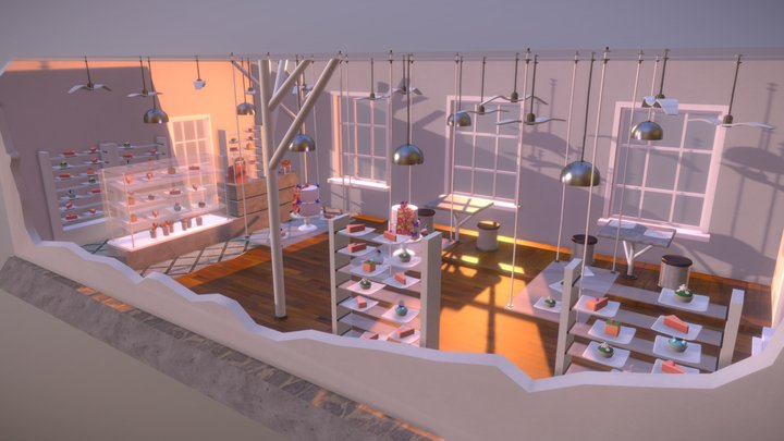 Day5_Pastry shop 3D Model