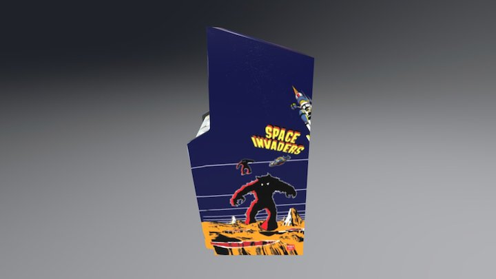Space invaders arcade cabinet 3D Model