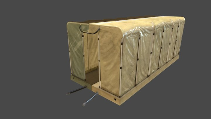 Military Showers (Attached) 3D Model