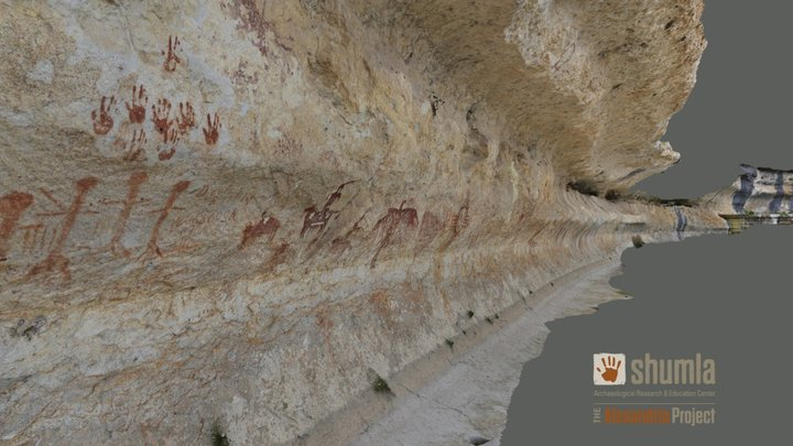 Meyer's Springs (41TE009) Pictographs 3D Model