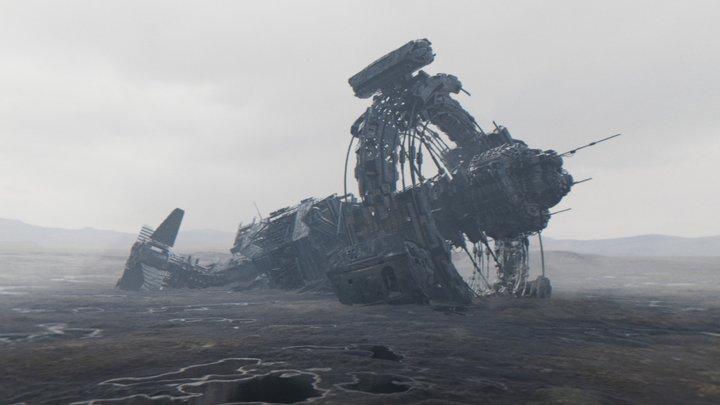 Derelict Ship 3D Model