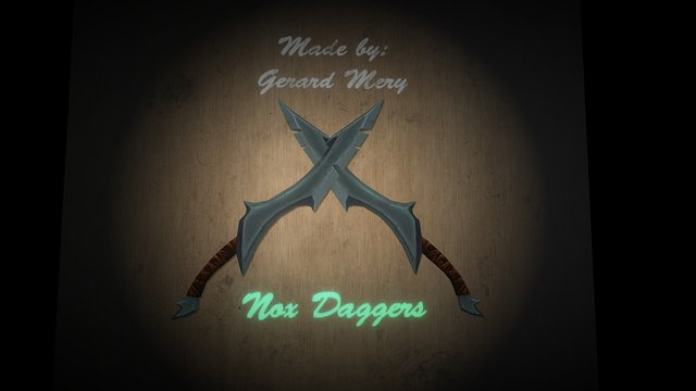 Noux Stylized Daggers 3D Model