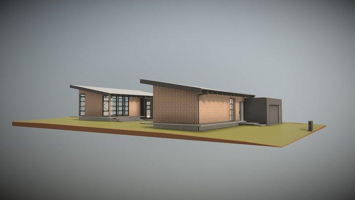 Golf Course House 3D Model