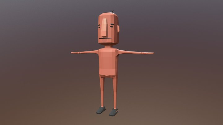 Low Poly Character: Rodger's Body 3D Model