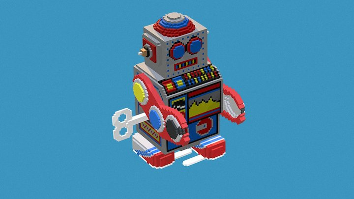 Tin Toy Wind Up Robot 3D Model