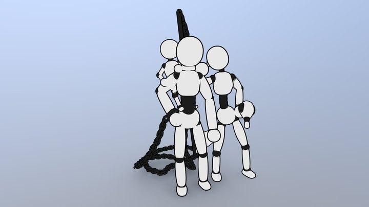 Basic Character Models 3D Model