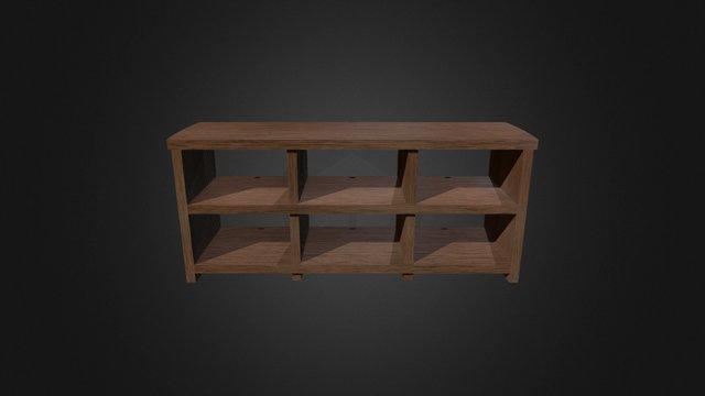 Oak AV Cabinet 3D Model