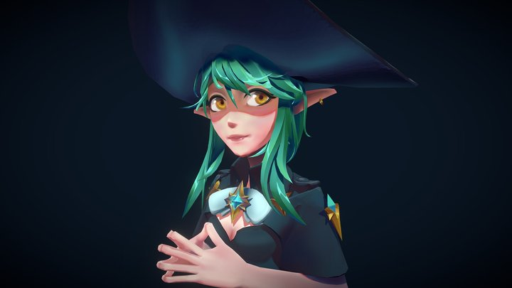 Witchy #StylizedBustChallenge ! 3D Model