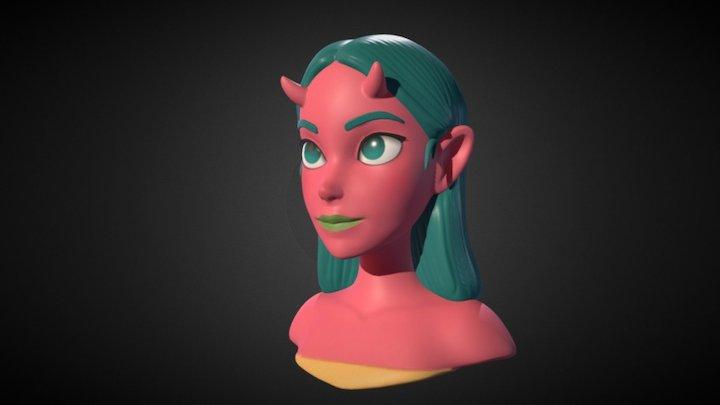 Oni Girl 3D Model