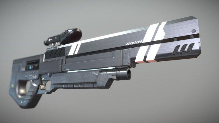 Sci-Fi Sniper Railgun 3D Model