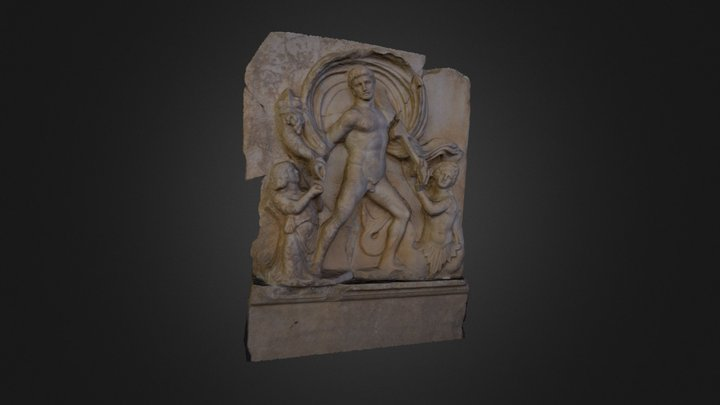 bas-relief, musee, Aphrodisias 2, TUR 3D Model