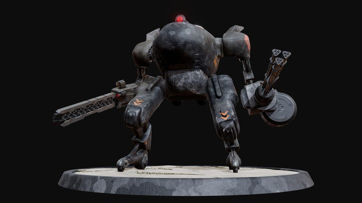 Mecha XAR-XV / Steel Squad 3D Model