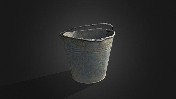 Bucket with cement | no optimisation 3D Model