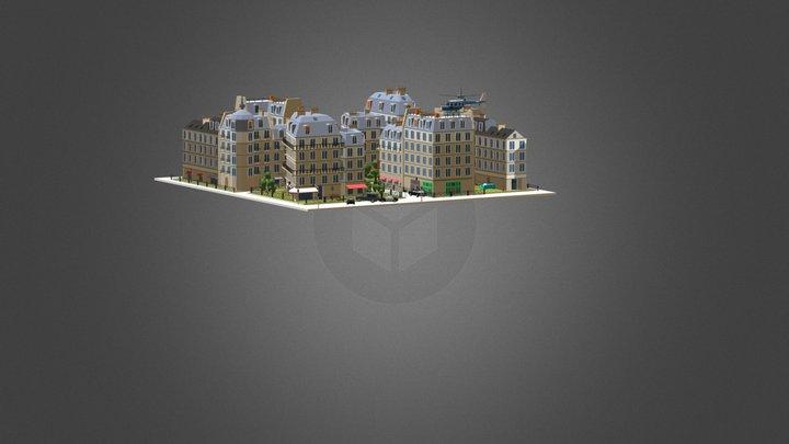 Сolorful City Low Poly Assets 3D Model