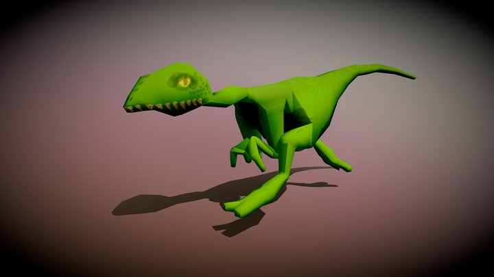 Raptor Run Animation 3D Model