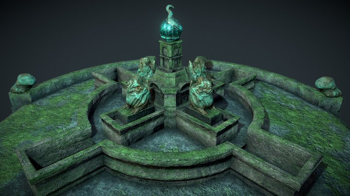 Ancient Fountain 3D Model