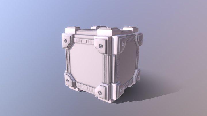 Intergalatic Sci- Fi Cube 3D Model