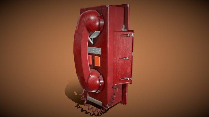 Red Telephone (Emergency Phone) 3D Model