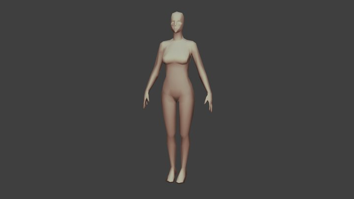 Female Base Mesh LP 3D Model
