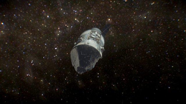 Apollo 17 module from original 1972 photos 3D Model