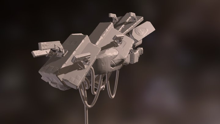 Heavy Attack Craft-Concept 3D Model