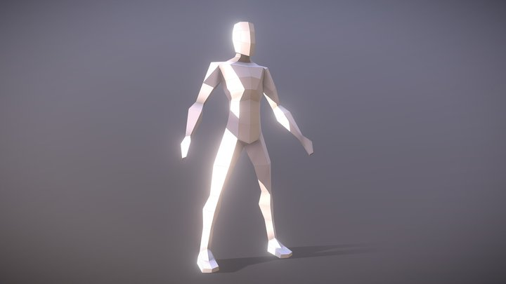 Proportional Low Poly Man | FREE Download | 3D Model