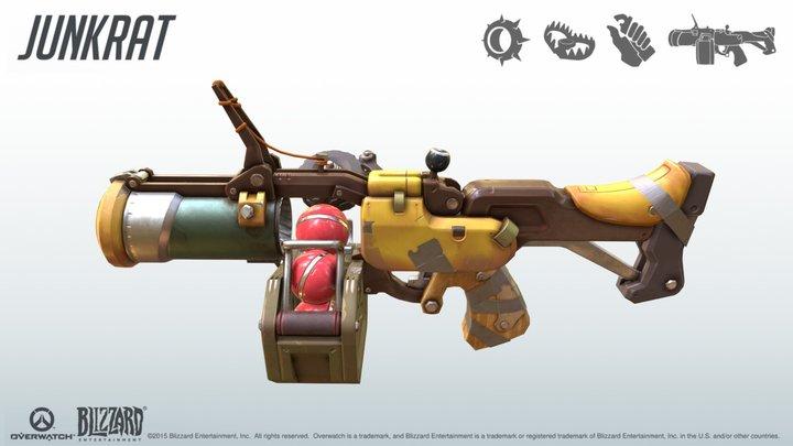 Overwatch: Junkrat's Grenade Launcher 3D Model