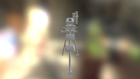 Mg42 Lafette Deployed 3D Model