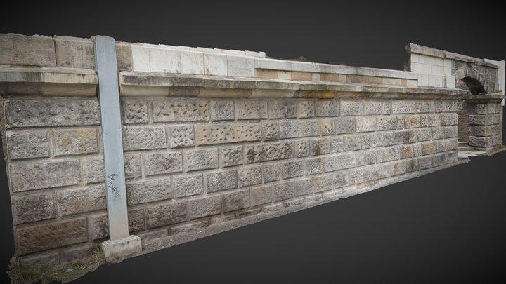 Baroque Bosage Wall 3D Model